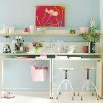Mesas altas de cocina, alternativa a las mesas plegables en cocinas pequeñas