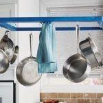 Ideas de reciclaje: colgador de utensilios para cocinas con isla