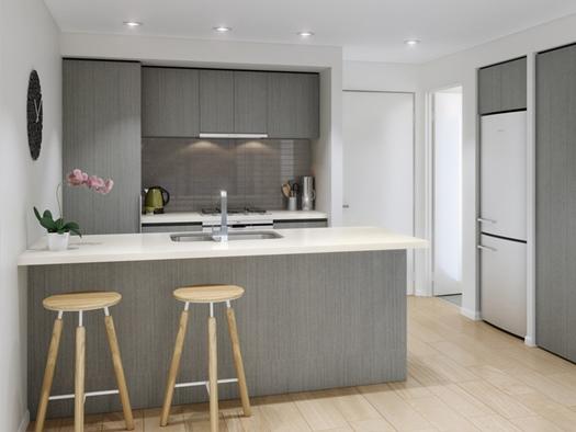Lo moderno no está reñido con lo retro: puedes deorar una cocina de estilo vintage con aire minimalista.
