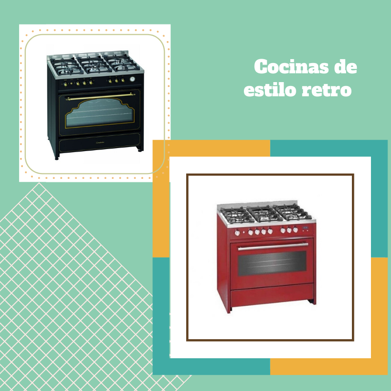 Cocinas de estilo vintage, elecrodomésticos retro con el diseño de de antes