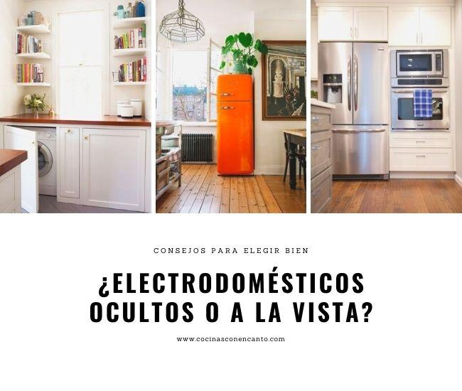 Consejos para decidir si cocinas con electrodomésticos integrados o a la vista.