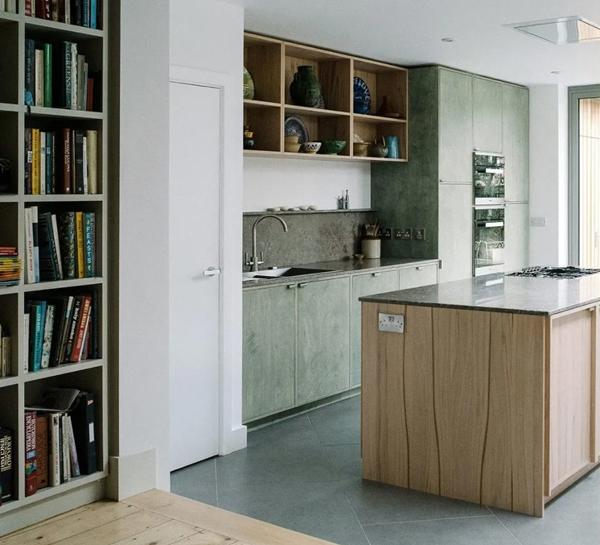 Tendencias 2021 en diseño de cocinas: materiales reciclados como el terrazo.
