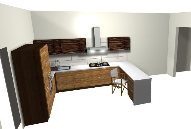 Los diseños de cocinas en 3D permiten apreciar los volúmenes en un espacio determinado.