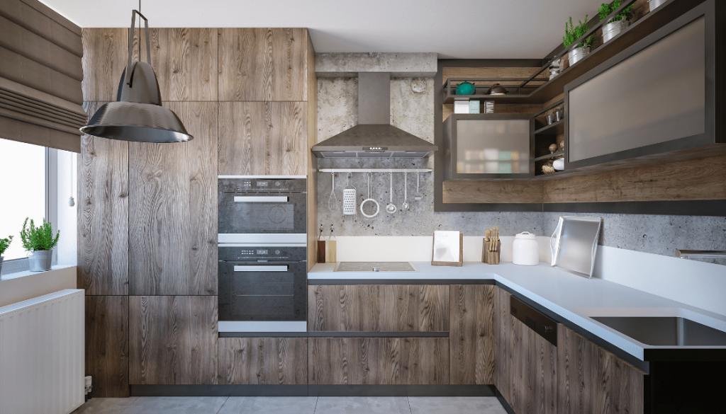 Un render de cocina permite apreciar más detalles que un diseño 3D tradicional, asemejándose a una fotografía.